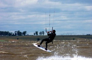 Deneysville image of a kite surfer